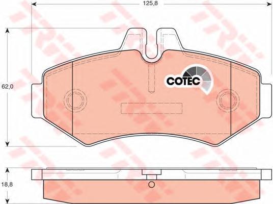 Колодки тормозные дисковые TRW/Lucas GDB1399GDB1399