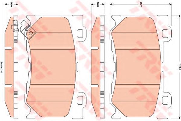Колодки тормозные дисковые TRW/Lucas GDB3505GDB3505