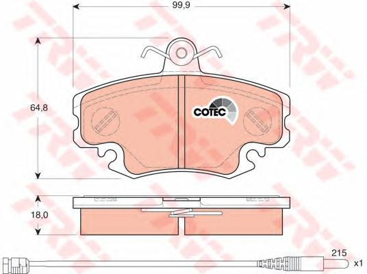 TRW / Lucas Колодки тормозные дисковые. GDB1465GDB1465
