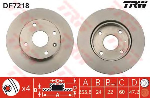 Диск тормозной TRW/Lucas DF7218 комплект 2 штDF7218
