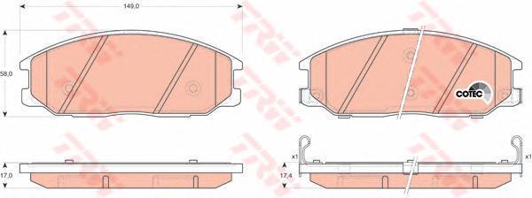 Колодки тормозные дисковые TRW/Lucas GDB3297GDB3297