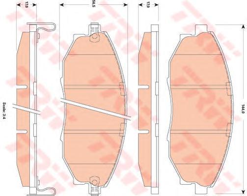 Колодки тормозные дисковые TRW/Lucas GDB4179GDB4179