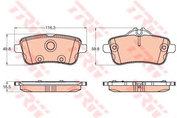 Колодки тормозные задние TRW/Lucas GDB1947GDB1947