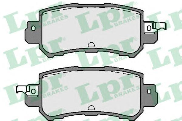 Колодки тормозные задние LPR / AP 05P175605P1756