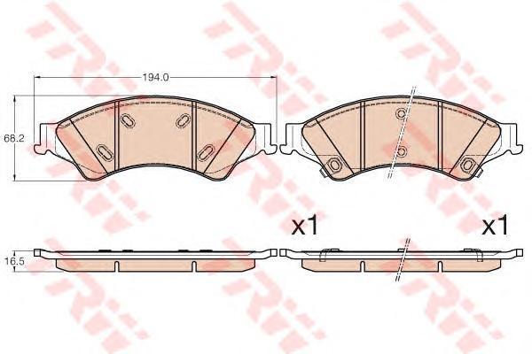 Колодки тормозные передние TRW/Lucas GDB2005GDB2005