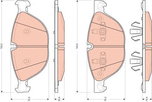 Колодки тормозные дисковые TRW/Lucas GDB1728GDB1728