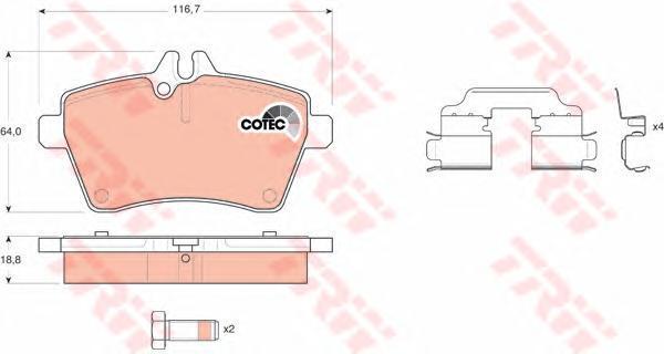 Колодки тормозные дисковые TRW/Lucas GDB1629GDB1629