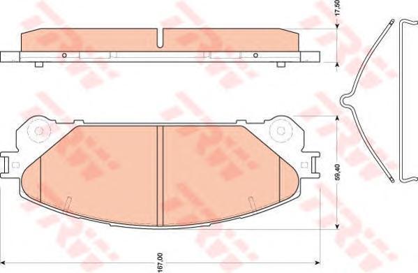 Колодки тормозные дисковые TRW/Lucas GDB3484GDB3484