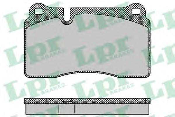 Колодки тормозные передние LPR / AP 05P137605P1376