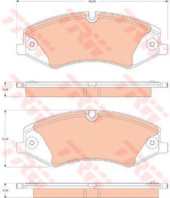 Колодки тормозные дисковые TRW/Lucas GDB1825GDB1825