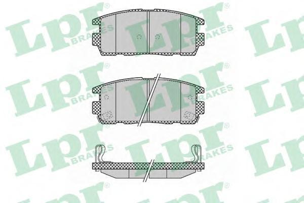 Колодки тормозные задние LPR / AP 05P132305P1323