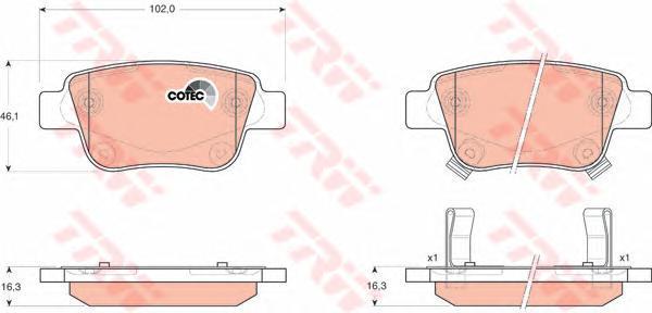 Колодки тормозные дисковые TRW/Lucas GDB3337GDB3337