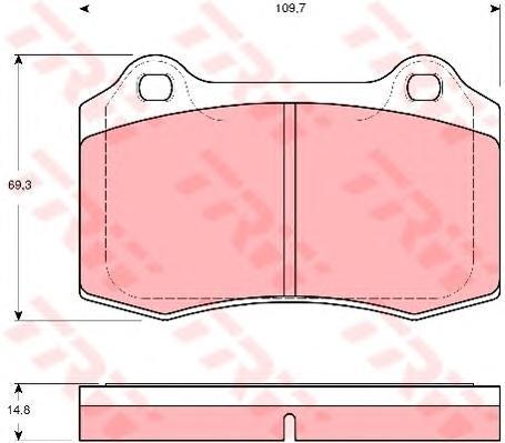 Колодки тормозные дисковые TRW/Lucas GDB1513GDB1513