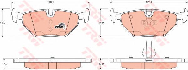 Колодки тормозные дисковые TRW/Lucas GDB1344GDB1344