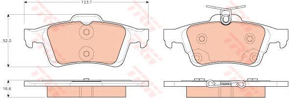 Колодки тормозные задние TRW/Lucas GDB1938GDB1938