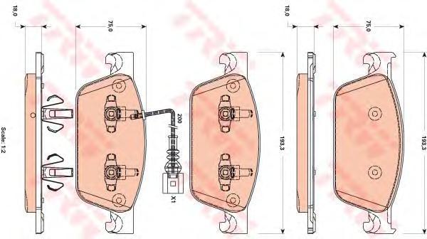 Колодки тормозные дисковые TRW/Lucas GDB1887GDB1887