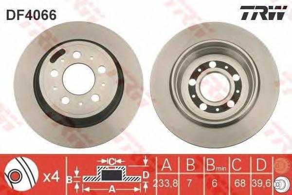 Диск тормозной TRW/Lucas DF4066 комплект 2 штDF4066
