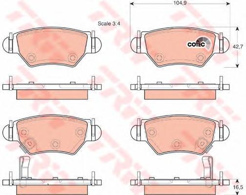 Колодки тормозные дисковые TRW/Lucas GDB1471GDB1471