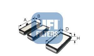 Фильтр салона (комплект) UFI 53070005307000