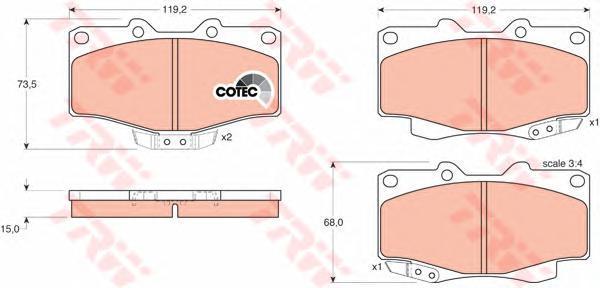 Колодки тормозные дисковые TRW/Lucas GDB797GDB797