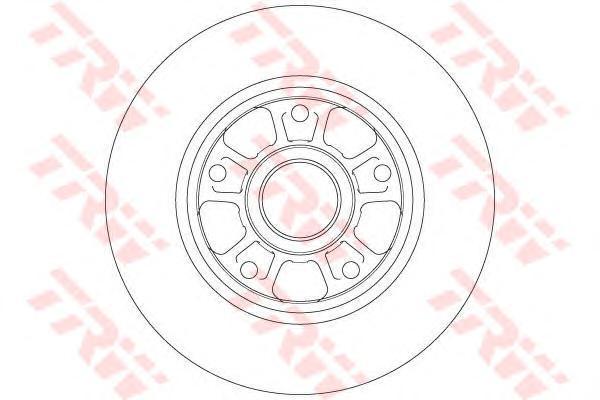 Диск тормозной задний TRW/Lucas DF6182 комплект 2 штDF6182