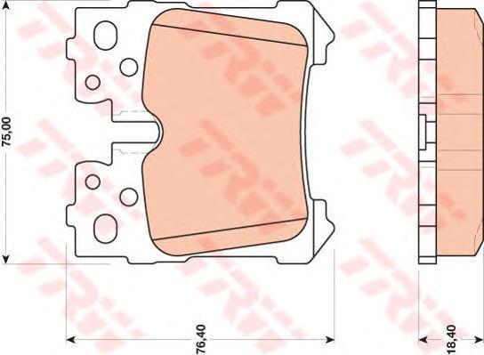 Колодки тормозные дисковые TRW/Lucas GDB3475GDB3475