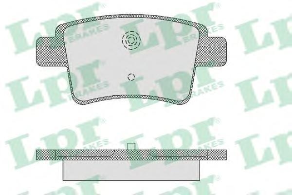 Колодки тормозные передние LPR / AP 05P147505P1475