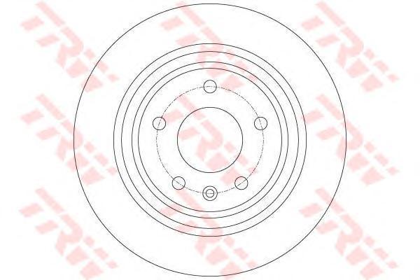 Диск тормозной задний TRW/Lucas DF6363DF6363