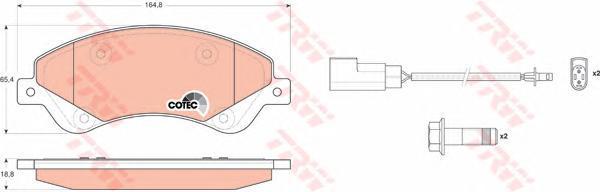 TRW / Lucas Колодки тормозные дисковые. GDB1723GDB1723