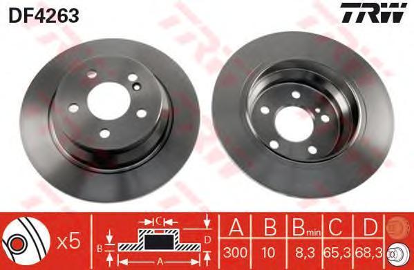 Диск тормозной TRW/Lucas DF4263 комплект 2 штDF4263
