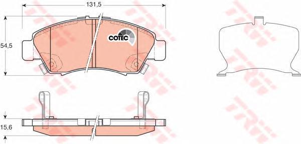TRW / Lucas Колодки тормозные дисковые. GDB3212GDB3212