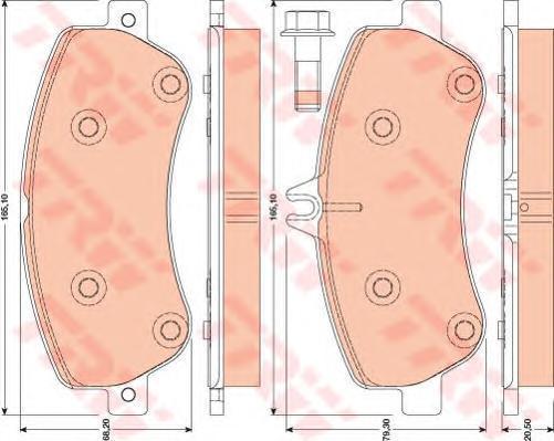 Колодки тормозные дисковые TRW/Lucas GDB1798GDB1798