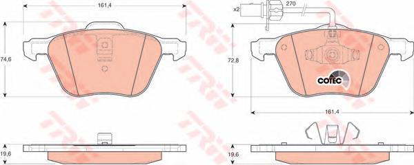 Колодки тормозные дисковые TRW/Lucas GDB1460GDB1460