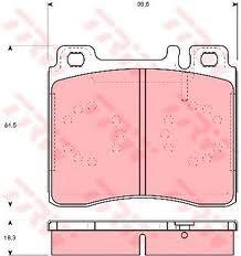 Колодки тормозные дисковые TRW/Lucas GDB113GDB113