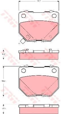 Колодки тормозные дисковые TRW/Lucas GDB3308GDB3308