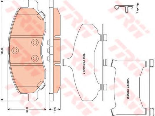 Колодки тормозные дисковые TRW/Lucas GDB4142GDB4142