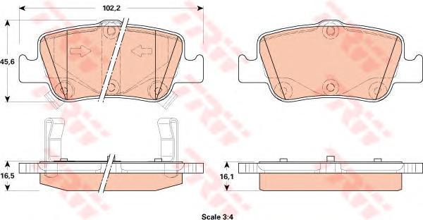 Колодки тормозные дисковые TRW/Lucas GDB3480GDB3480