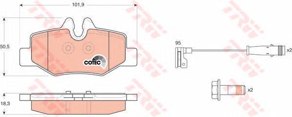 Колодки тормозные дисковые TRW/Lucas GDB1601GDB1601