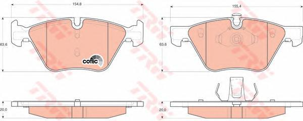 Колодки тормозные дисковые TRW/Lucas GDB1559GDB1559