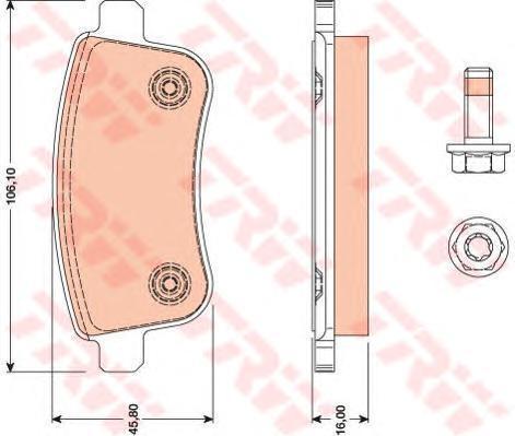 Колодки тормозные дисковые TRW/Lucas GDB1791GDB1791