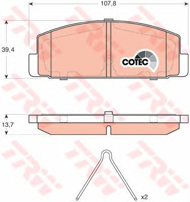 Колодки тормозные дисковые TRW/Lucas GDB3311GDB3311