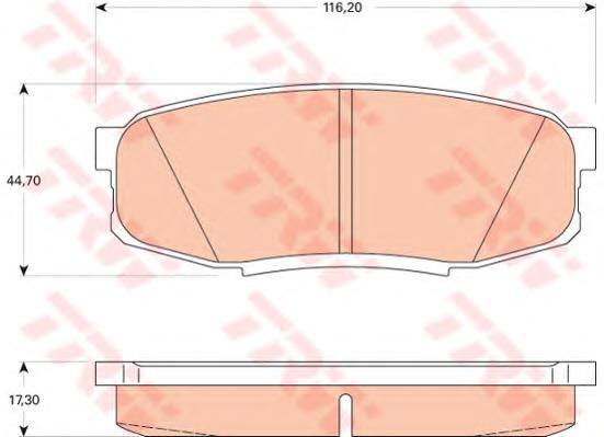 Колодки тормозные дисковые TRW/Lucas GDB3491GDB3491