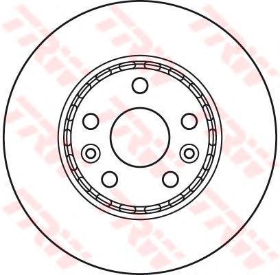 Диск тормознойпередний вентилируемыйD 280мм TRW/Lucas DF6110 комплект 2 штDF6110
