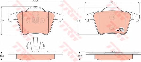 Колодки тормозные дисковые TRW/Lucas GDB1566GDB1566