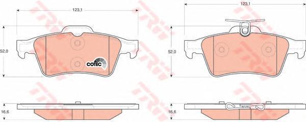 Колодки тормозные дисковые TRW/Lucas GDB1621GDB1621