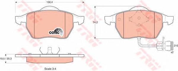 Колодки тормозные дисковые TRW/Lucas GDB1049GDB1049