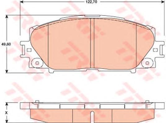 Колодки тормозные дисковые TRW/Lucas GDB3459GDB3459