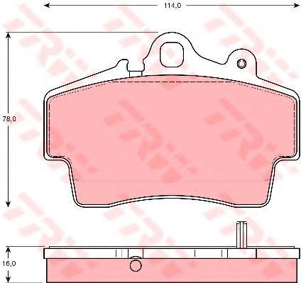 Колодки тормозные дисковые TRW/Lucas GDB1394GDB1394