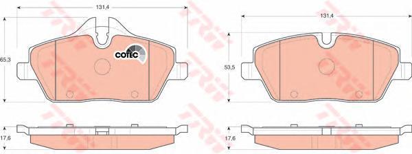 Колодки тормозные дисковые TRW/Lucas GDB1611GDB1611