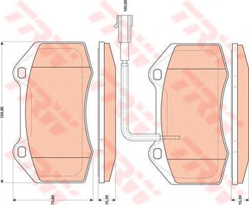 Колодки тормозные дисковые TRW/Lucas GDB1812GDB1812